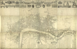 London & c., accurately Surveyed, an accurate Plan of the Cities of London and Westminster and the Borough of Southwark, 1732